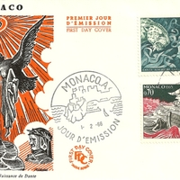 First Day Cover - Monaco - 1966 - R. Géndt and Unknown Designer