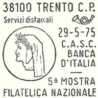 Cancellation - Italy (Trento) - 1975 May 29