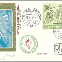 Last Day Cover - Vatican City - 1966 - KimCover