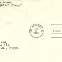 First Day Cover - United States - 1965 - Challand
